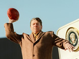 Ronald Reagan throwing football